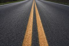 Highway Center Lines Royalty Free Stock Photo