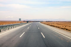 highway in central Iran Royalty Free Stock Photo