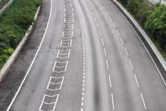 Highway clear of cars Stock Photo