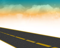 Highway with clouds Royalty Free Stock Photo