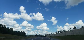 Highway Clouds stock photography