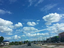 Highway. Cloudy bluesky road stock photography