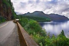 Highway on coast Royalty Free Stock Photo