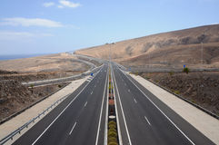 Highway on the coast Royalty Free Stock Photography