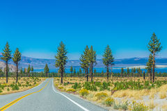 Highway by the coastline Royalty Free Stock Photos