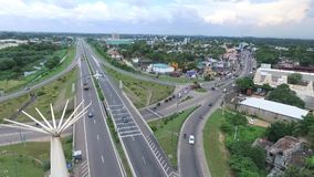 Highway from Colombo to Katunayake Sr Lanka stock footage