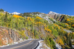 Highway Through a Colorado Autumn Landscape Royalty Free Stock Image