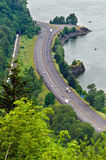 Highway by the Columbia River Royalty Free Stock Images