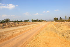 Highway construction. Cross border Thailand - Myanmar at Mae Sot Special Economic Zone, Thailand Stock Photos