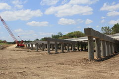 Highway Construction. A highway overpass under construction Royalty Free Stock Photography