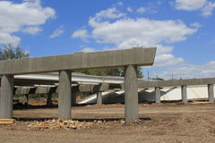 Highway Construction. A highway overpass under construction Royalty Free Stock Photos
