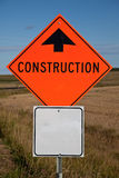 Highway Construction Sign Royalty Free Stock Image