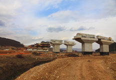 Highway construction site Stock Images