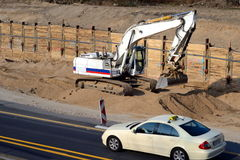 Highway construction site Royalty Free Stock Photography