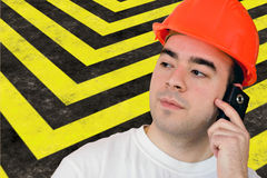 Highway Construction Worker Royalty Free Stock Image