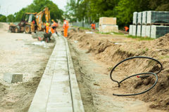 Highway construction zone Royalty Free Stock Photography