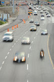 Highway Construction Zone Traffic Stock Images