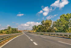 Highway in the Countryside - Tuscany, Italy stock photography