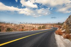 Highway in countryside Stock Photo