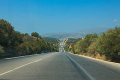 Highway in Crete Royalty Free Stock Images