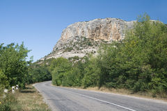 Highway in Crimea Royalty Free Stock Images