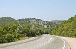 Highway in Crimea Stock Photos
