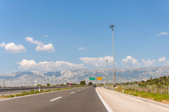 Highway in Croatia Stock Photos