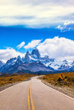 The highway crosses Patagonia Royalty Free Stock Image