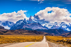 The highway crosses Patagonia Stock Photo