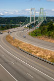 Highway 16 Crossing Puget Sound Over Tacoma Narrows Bridge stock photo