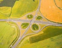Highway crossroad. Stock Photo
