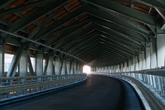 Highway curved tunnel in Italy. An highway road tunnel in working - no lines Royalty Free Stock Photos