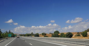 Highway in Cyprus Royalty Free Stock Image