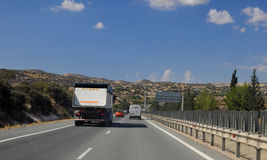 Highway in Cyprus Stock Photos