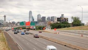 Highway in Dallas, Texas stock video footage
