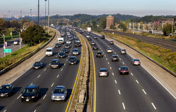 Highway during the day Royalty Free Stock Photos