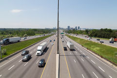 Highway 401 during the day stock photos