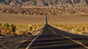 Highway through Death Valley Royalty Free Stock Photo