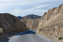 Highway in Death Valley Royalty Free Stock Photos