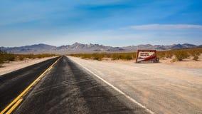 Highway in Death Valley Stock Photos