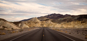 Highway Death Valley National Park Pyramid Peak Stock Photos
