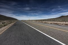 Highway through Death Valley at Towne Pass. royalty free stock photos