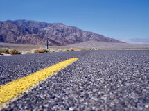 Highway in Death Valley Royalty Free Stock Image