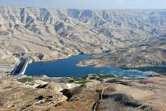 Highway del re, wadi Mujib, bacino idrico, Giordano fotografie stock libere da diritti
