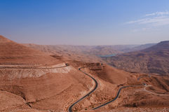 Highway des Königs in Jordanien Stockbild