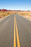 Highway through desert Royalty Free Stock Photography