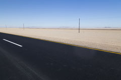 Highway in the desert, Namibia Royalty Free Stock Image
