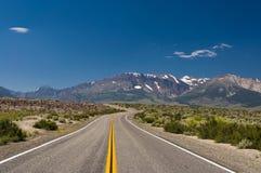 Highway in the desert. Near Sierra Nevada Stock Photography