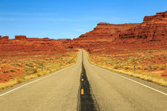 Highway and desert in southern Utah., Utah, USA. Royalty Free Stock Image