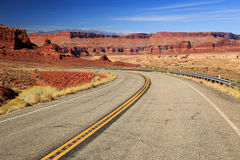 Highway and desert in southern Utah., Utah, USA. Stock Image